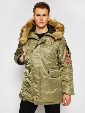 Alpha Industries Alpha Industries Парка Airborne 188141 Зелен Regular Fit