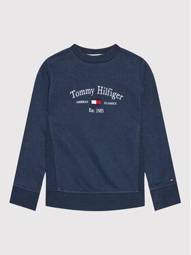 Tommy Hilfiger Tommy Hilfiger Bluza Artwork KB0KB06347 M Granatowy Regular Fit