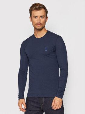 Trussardi Trussardi Тениска с дълъг ръкав 52T00538 Тъмносин Slim Fit