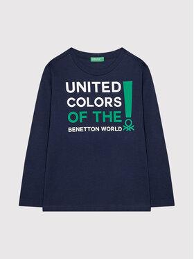 United Colors Of Benetton United Colors Of Benetton Blúz 3I1XC151S Sötétkék Relaxed Fit