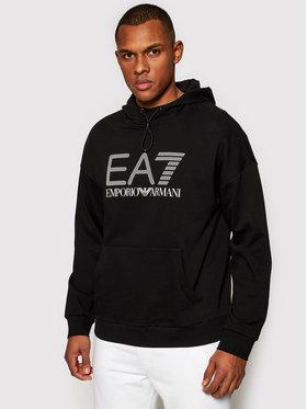 EA7 Emporio Armani EA7 Emporio Armani Majica dugih rukava 3KPM92 PJ8BZ 1200 Crna Regular Fit