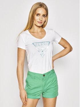 Guess Guess Marškinėliai Peace Tee W0GI77 J1300 Balta Slim Fit