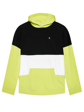 Calvin Klein Jeans Calvin Klein Jeans Bluza Colour Block Logo IB0IB00807 Żółty Regular Fit