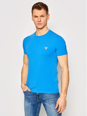 Guess Guess T-shirt M1RI24 J1311 Blu Super Slim Fit