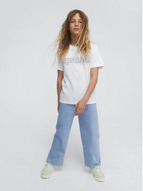 Sprandi Sprandi Marškinėliai SS21-TSB001 Balta Regular Fit