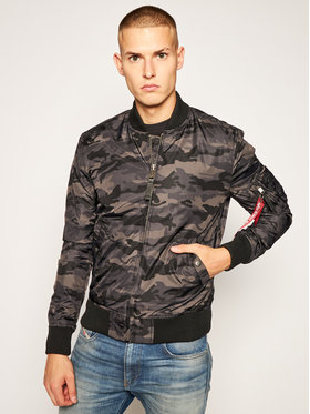 Alpha Industries Alpha Industries Яке бомбър Ma-1 Tt Camo 191103C Сив Regular Fit