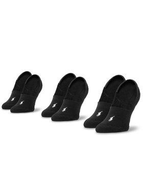 Polo Ralph Lauren Polo Ralph Lauren Súprava 3 párov krátkych pánskych ponožiek 455747505001 Čierna