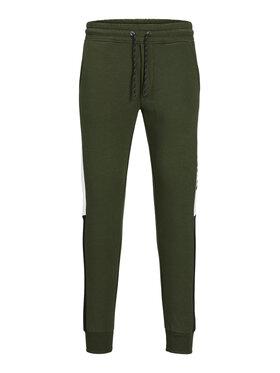 Jack&Jones Jack&Jones Teplákové kalhoty Will 12197199 Zelená Regular Fit