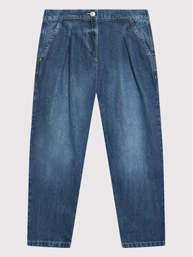United Colors Of Benetton United Colors Of Benetton Jeansy 4AW755FX0 Granatowy Slouchy Fit
