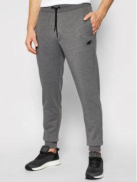4F 4F Spodnie dresowe H4L21-SPMD001 Szary Regular Fit