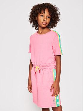 Little Marc Jacobs Little Marc Jacobs Haljina za svaki dan W12360 S Ružičasta Regular Fit