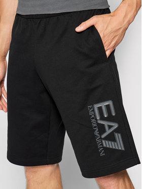 EA7 Emporio Armani EA7 Emporio Armani Pantaloni scurți sport 6KPS73 PJ05Z 1200 Negru Regular Fit