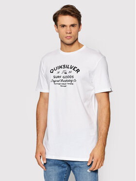 Quiksilver Quiksilver Тишърт Closed Tion EQYZT06536 Бял Classic Fit