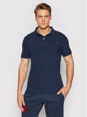 Superdry Superdry Polo Classic Pique M1110004A Granatowy Regular Fit