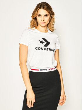 Converse Converse T-Shirt Star Chevron 10018569-A01 Bílá Regular Fit