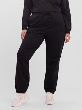 Vero Moda Curve Vero Moda Curve Spodnie dresowe Octavia 10256759 Czarny Regular Fit