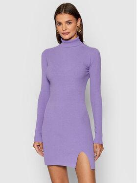 Kontatto Kontatto Φόρεμα υφασμάτινο 3M8316 Μωβ Slim Fit
