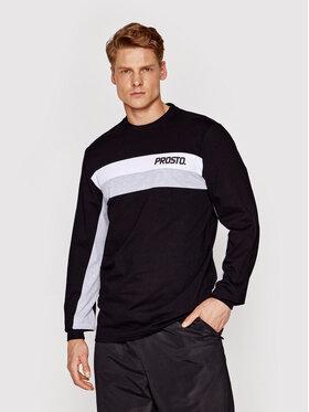 PROSTO. PROSTO. Marškinėliai ilgomis rankovėmis KLASYK Yama 2061 Juoda Regular Fit