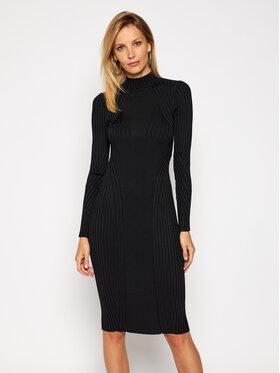 Versace Jeans Couture Versace Jeans Couture Sukienka dzianinowa B4HZB808 Czarny Slim Fit