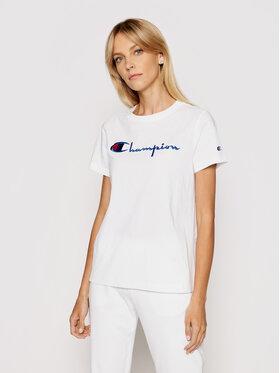 Champion Champion T-Shirt Script Logo 110992 Λευκό Heritage Fit