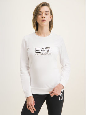 EA7 Emporio Armani EA7 Emporio Armani Μπλούζα 8NTM39 TJ31Z 0102 Λευκό Regular Fit