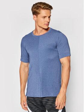 Nike Nike Techniniai marškinėliai Yoga Dri-FIT BV4034 Tamsiai mėlyna Slim Fit