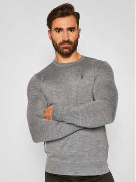 Polo Ralph Lauren Polo Ralph Lauren Пуловер Ls Sf Cn Pp 710714346005 Сив Slim Fit