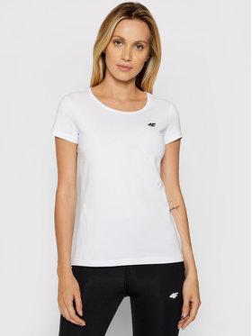 4F 4F T-Shirt NOSH4-TSD001 Biały Regular Fit
