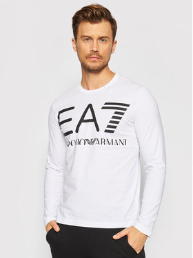 EA7 Emporio Armani EA7 Emporio Armani Majica dugih rukava 6KPT30 PJ6EZ 1100 Bijela Regular Fit