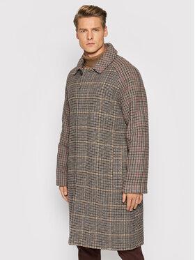 Trussardi Trussardi Μάλλινο παλτό Fantasy 52S00618 Έγχρωμο