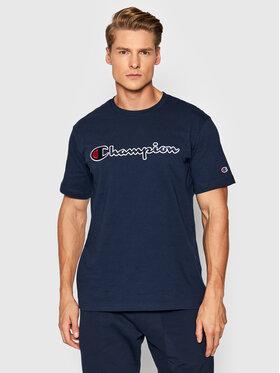 Champion Champion T-Shirt Script Logo 216473 Granatowy Comfort Fit
