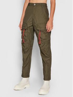 G-Star Raw G-Star Raw Текстилни панталони Pabe Poplin Зелен Regular Fit
