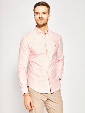 Polo Ralph Lauren Polo Ralph Lauren Marškiniai Core Replen 710549084 Rožinė Slim Fit
