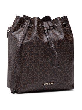 Calvin Klein Calvin Klein Borsetta Drawstring Bucket Bag Monogram K60K606477 Marrone