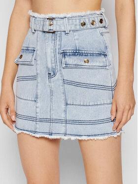 IXIAH IXIAH Spódnica jeansowa X211-60151 Niebieski Regular Fit