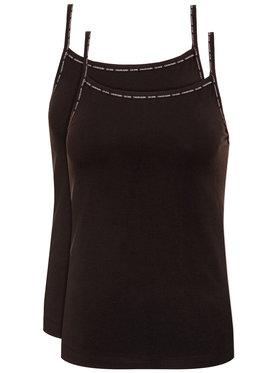 Calvin Klein Underwear Calvin Klein Underwear Komplet 2 topów Cami 000QS6440E Czarny Regular Fit