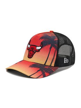 New Era New Era Czapka z daszkiem Chicago Bulls Summer City 9Forty A-Frame Trucker 60137587 Czerwony