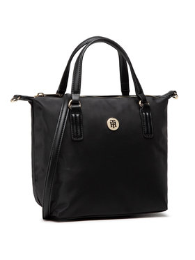 Tommy Hilfiger Tommy Hilfiger Táska Poppy Small Tote AW0AW09697 Fekete