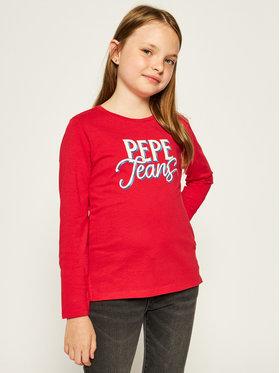 Pepe Jeans Pepe Jeans Blúzka Serena PG502541 Červená Regular Fit