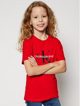 Calvin Klein Jeans Calvin Klein Jeans T-Shirt Monogram Logo IU0IU00068 Červená Regular Fit