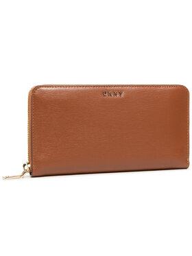 DKNY DKNY Veliki ženski novčanik Bryant New Zip Around R8313658 Smeđa