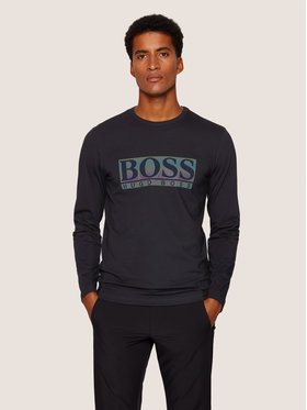 Boss Boss Halat Togn Logo 50436932 Negru Regular Fit