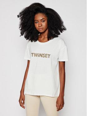 TwinSet TwinSet T-Shirt 211LM28GG Biały Regular Fit