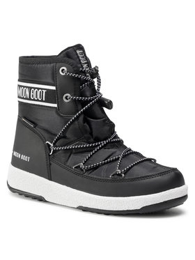 Moon Boot Moon Boot Μπότες Χιονιού Jr Boy Mid Wp 2 34052500001 Μαύρο