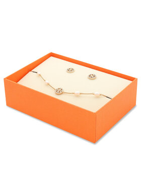 Tory Burch Tory Burch Schmuckset Armband und Ohrringe Miller Pave Bracelet And Stud Earring Set 80319 Goldfarben