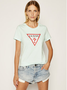 Guess Guess T-shirt Triangle W0GI06 K8HM0 Blu Regular Fit