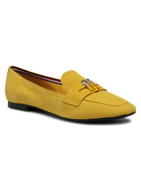 Tommy Hilfiger Tommy Hilfiger Лоуфъри Essential Hardware Loafer FW0FW05645 Жълт
