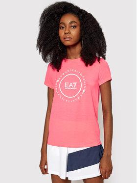EA7 Emporio Armani EA7 Emporio Armani Marškinėliai 3KTT22 TJ1TZ 1427 Rožinė Regular Fit
