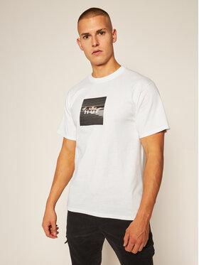 HUF HUF T-Shirt Voyeur Logo TS01175 Weiß Regular Fit