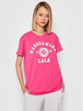 PLNY LALA PLNY LALA T-shirt Warszawska Lala PL-KO-CL-00273 Rose Relaxed Fit